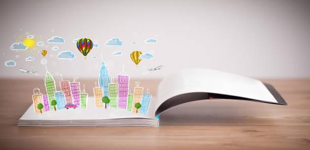 Cityscape drawing on open book picture id1087508732?b=1&k=6&m=1087508732&s=612x612&w=0&h=p wkyr6rhb6j25msyur2gyj0r07qtckrftr5ywvbemk=