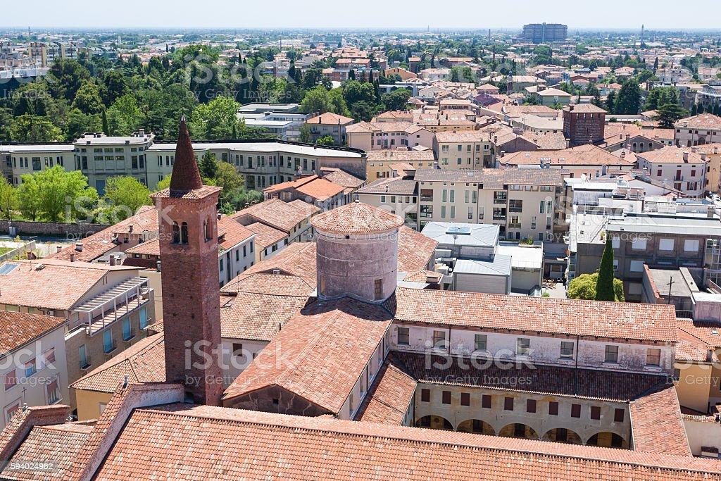 Cityscape from 'Bassano del Grappa', Italian landscape - foto stock