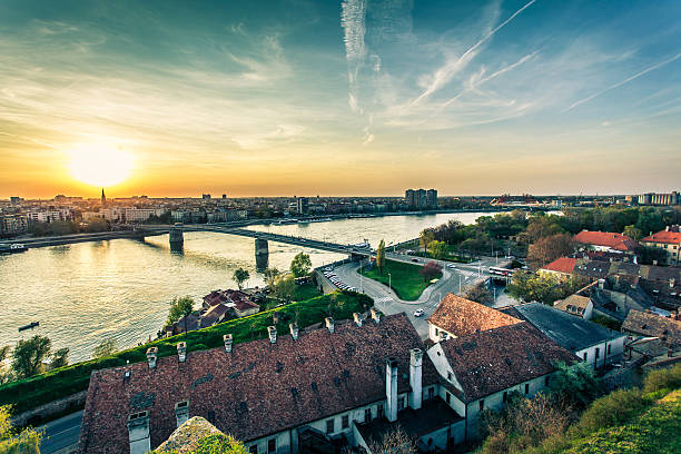 cityscape from of novi sad - serbia stock photos and pictures