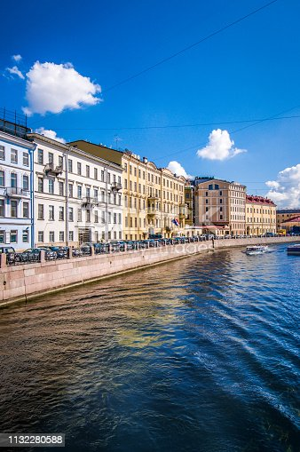 Cityscape From The River In St. Petersburg, Russia
