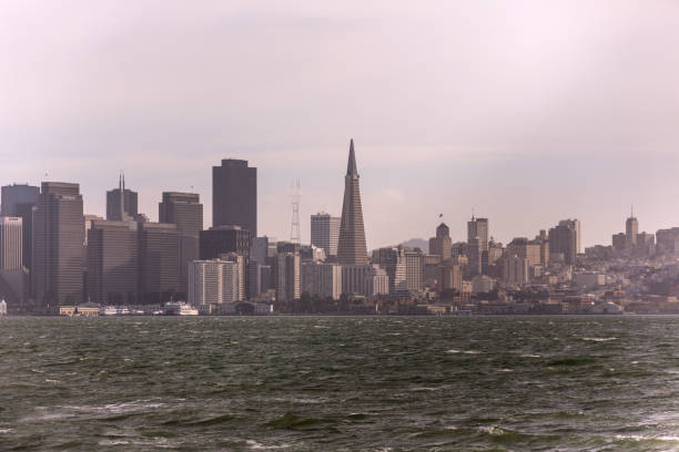 cityscape from yerba buena island at san francisco california usa cityscape from yerba buena island at san francisco california usa alameda california stock pictures, royalty-free photos & images