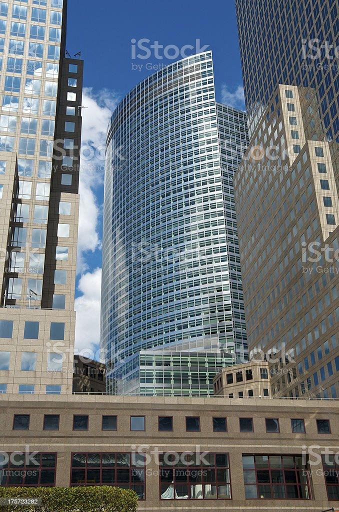 NYC Cityscape Goldman Sachs Building, Lower Manhattan royalty-free stock photo