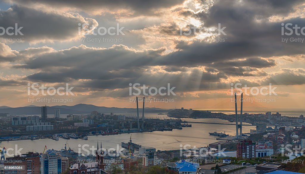 Cityscape. HDR image. stock photo