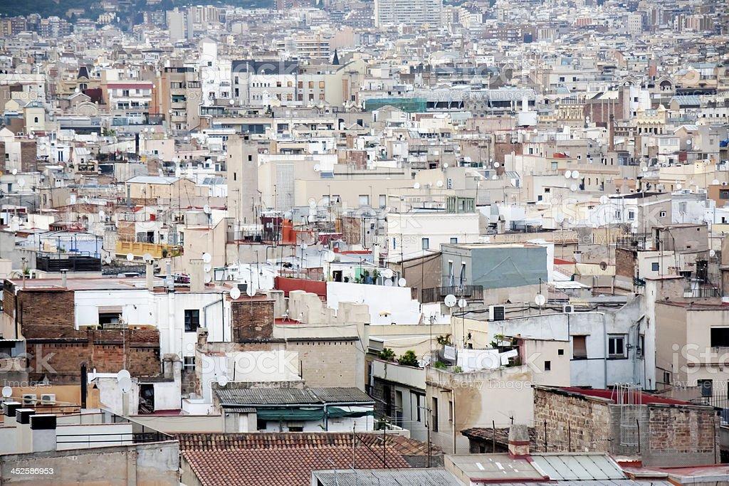 cityscape in Barcelona royalty-free stock photo