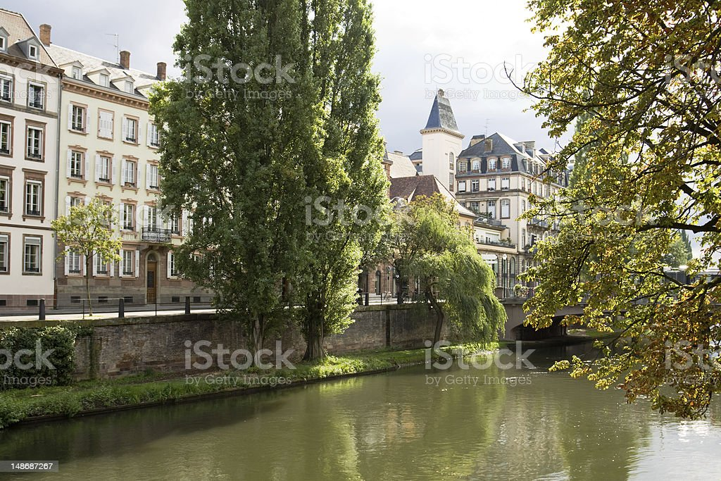 Cityscape in Strasbourg. Alsace, France royalty-free stock photo