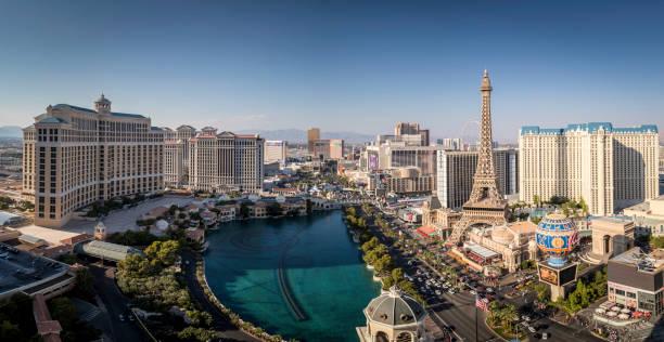 Cityscape Las Vegas Skyline at Daytime stock photo