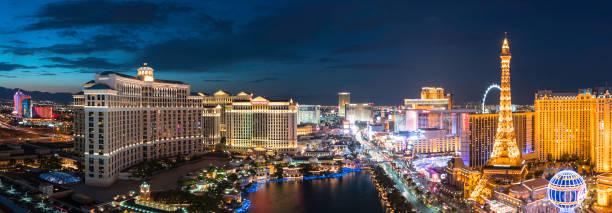 Cityscape Las Vegas Skyline at Sunset stock photo