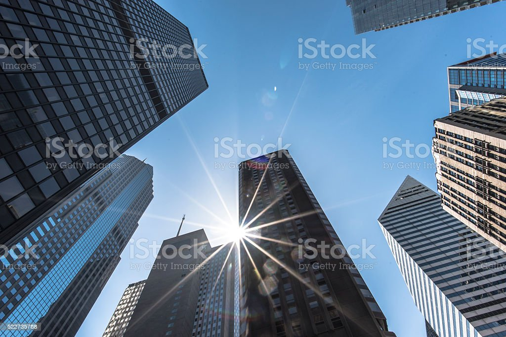 Cityscape Looking-Up View stock photo