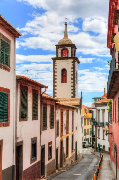 Cityscape Madeira Parish Sao Pedro stock photo