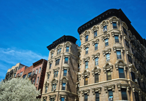 istock Cityscape, Manhattan, New York City,Early 20th Century Apartment Buildings 486667131