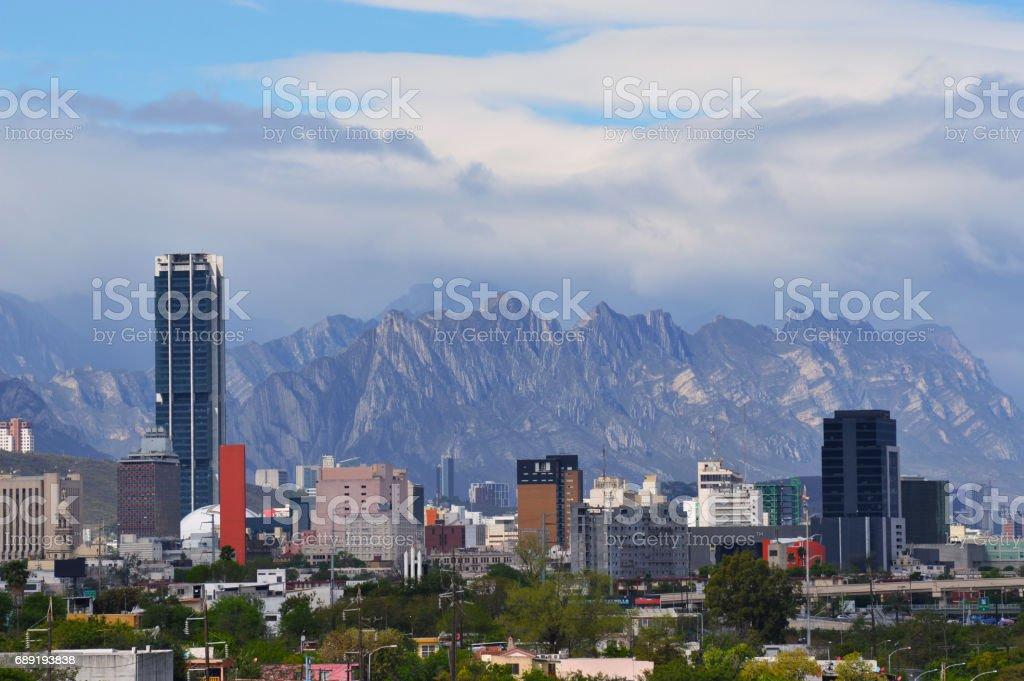 Cityscape Monterrey stock photo