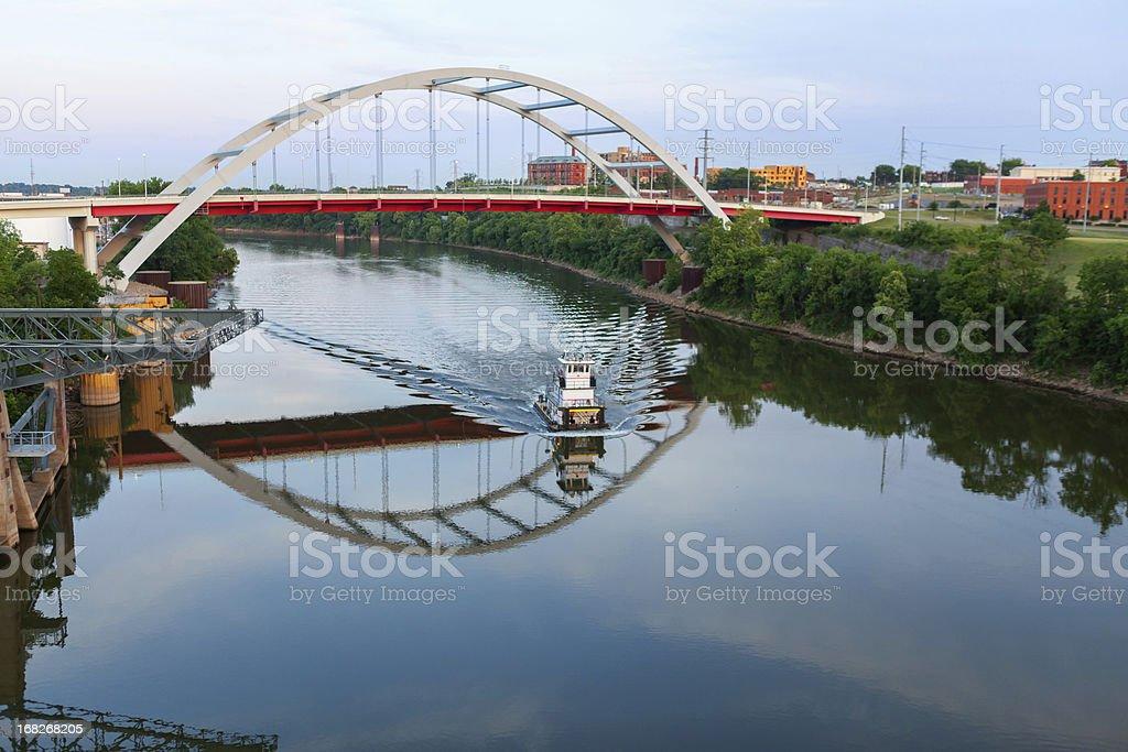 Cityscape: Nashville Tennessee Skyline Gateway Bridge stock photo