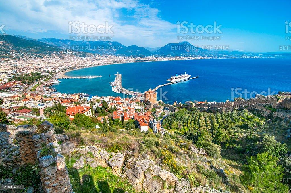 Cityscape of Alanya/Turkey stok fotoğrafı
