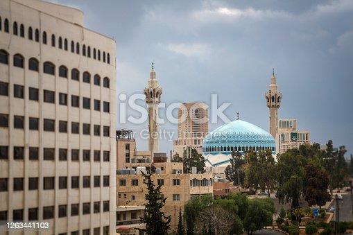 Amman, King Abdullah Mosque, Mosque, Jordan - Middle East, Arabia