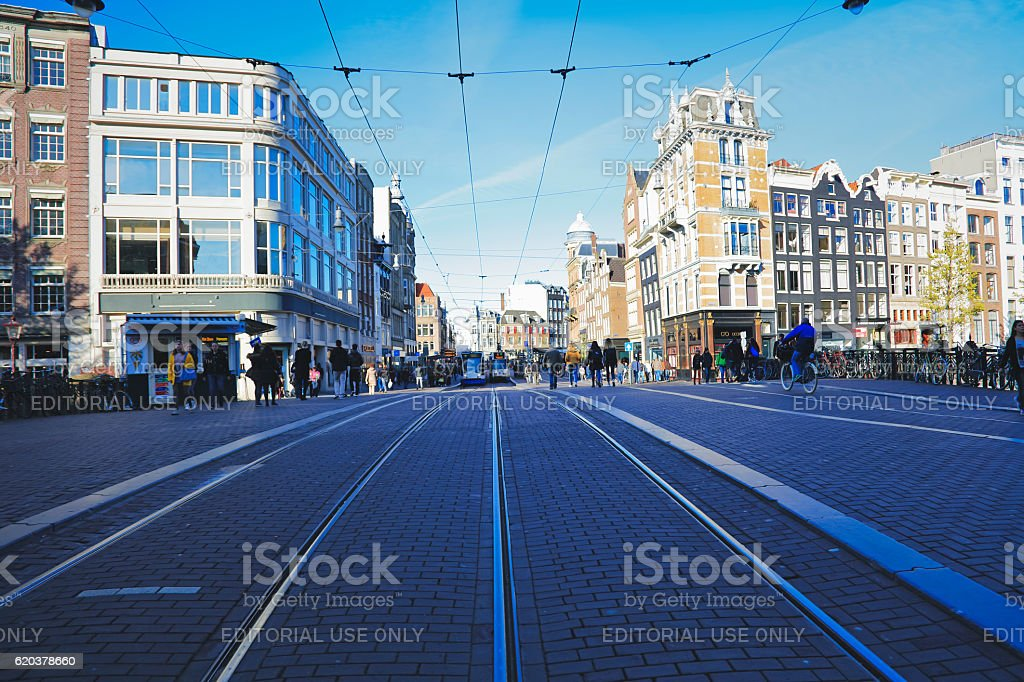 Cityscape of Amsterdam in Amsterdam, Netherlands foto de stock royalty-free