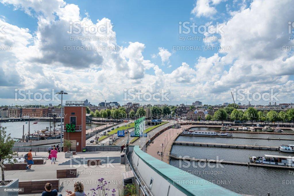 Vista da cidade de Amsterdan - foto de acervo