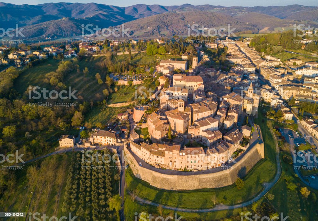 Anghiari Italy Map.Cityscape Of Anghiari In Tuscany From Above Italy Stock Photo More