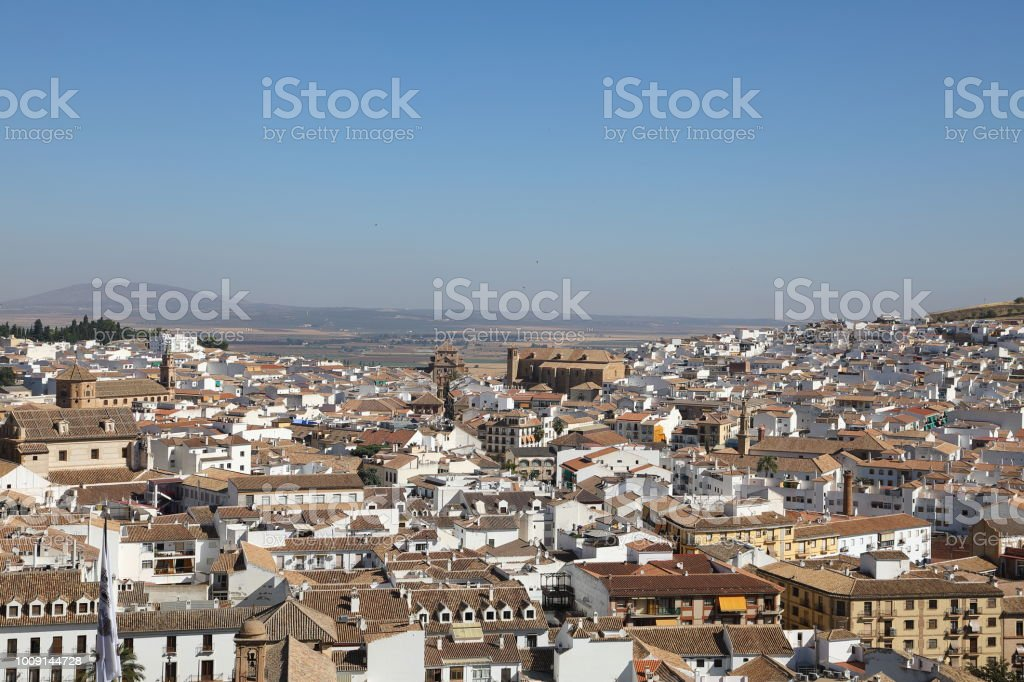 Cityscape of Antequera, Malaga Region Spain stock photo