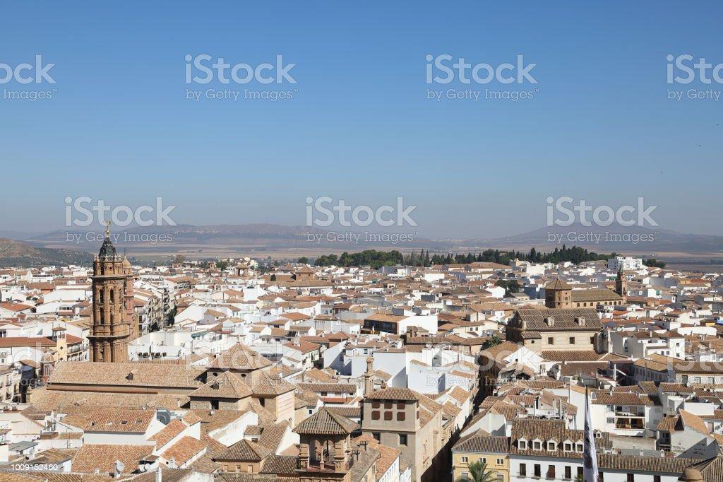 Cityscape of Antequera, Malaga Region Spain stock photo