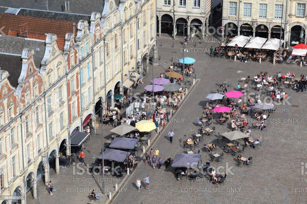 Cityscape of Arras, France stock photo