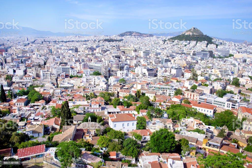 stadsbilden i Aten Grekland royaltyfri bildbanksbilder