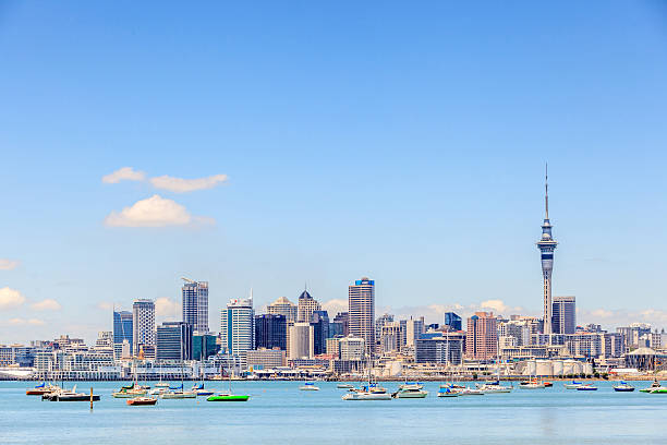 Auckland, New Zealand- December 12, 2013. Cityscape of Auckland stock photo