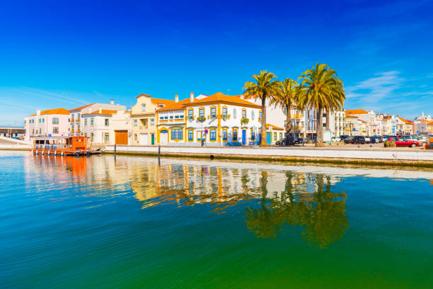 Cityscape of Aveiro, a small beautiful town in Portugal, also known as