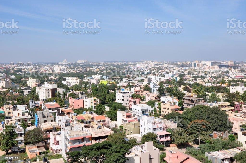 Cityscape of Bangalore stock photo