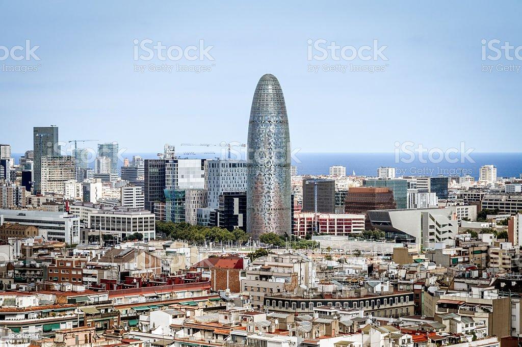 Cityscape of Barcelona stock photo