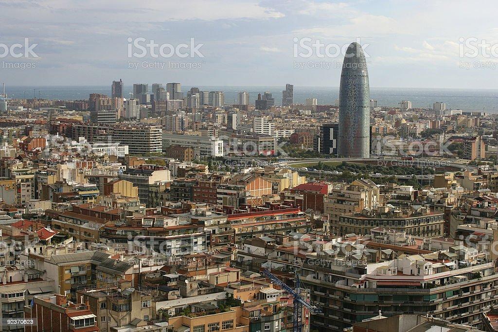 Cityscape of Barcelona royalty-free stock photo