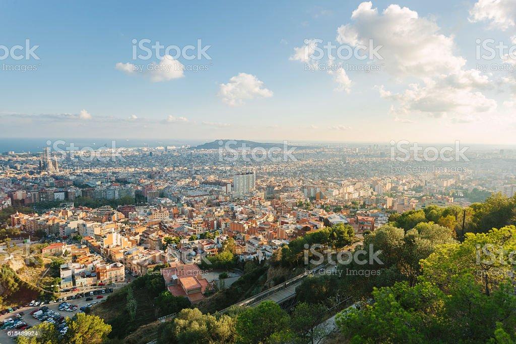 Paisaje de la ciudad de Barcelona, España - foto de stock