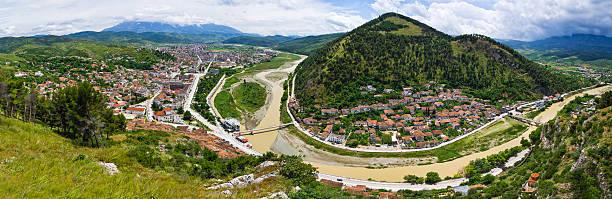 Cityscape of Berat - Albania stock photo