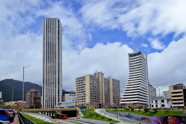 Cityscape of Bogota, Colombia. stock photo