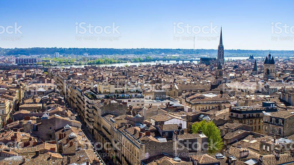 Paisagem Urbana de Bordéus, França - fotografia de stock