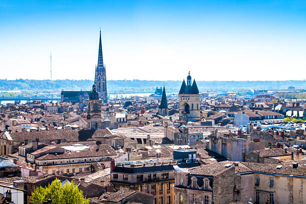 Cityscape of Bordeaux in France stock photo