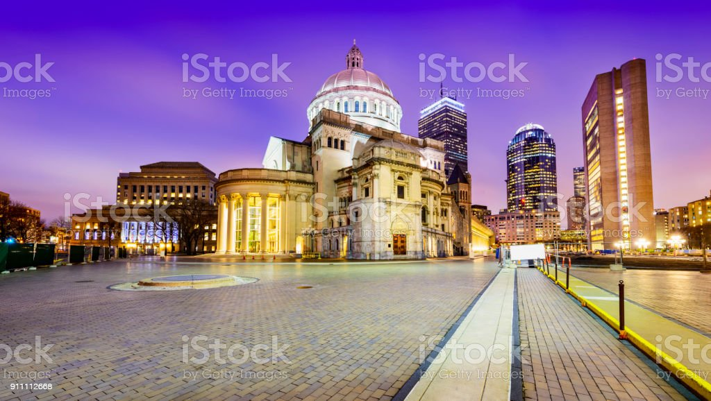 Cityscape of Boston stock photo