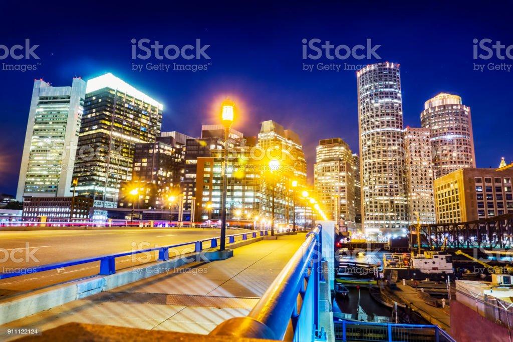 Cityscape of Boston stock photo