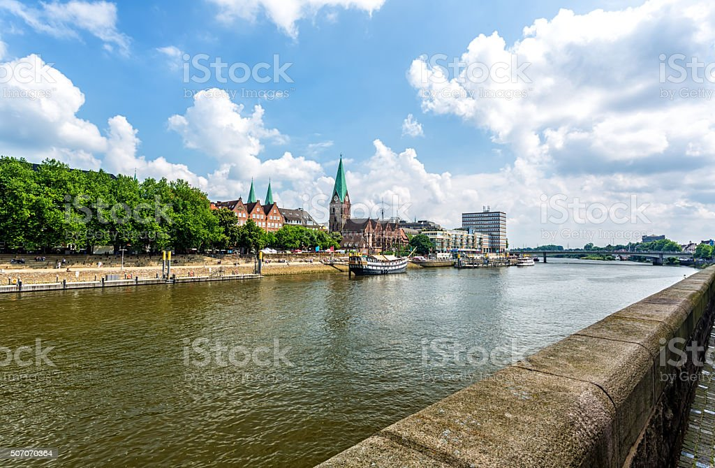 Cityscape of Bremen stock photo