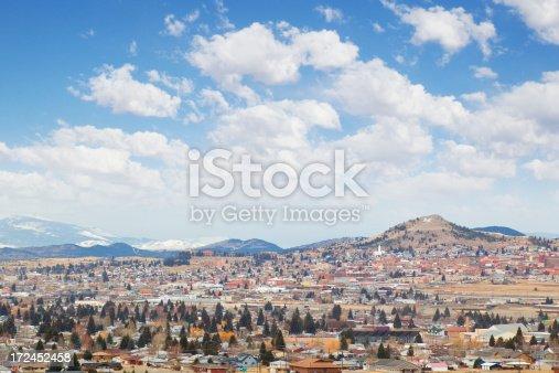Cityscape of Butte, Montana, USA.