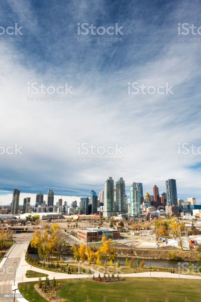 Cityscape of Calgary, Alberta, Canada stock photo