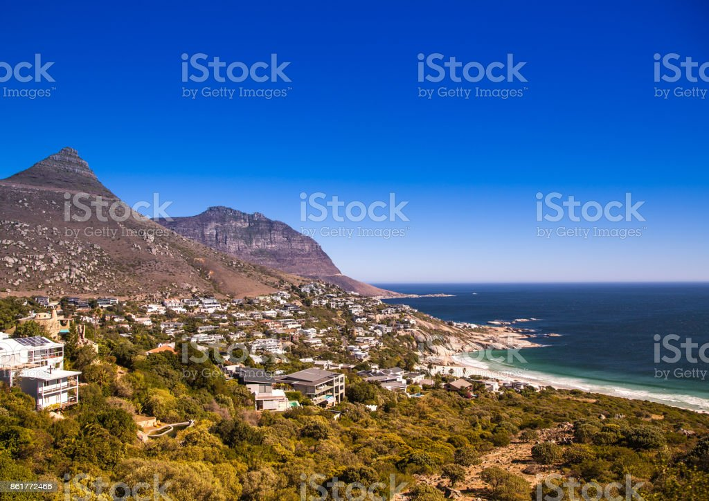 Cityscape of Cape Town  at the Western Cape in South Africa stock photo