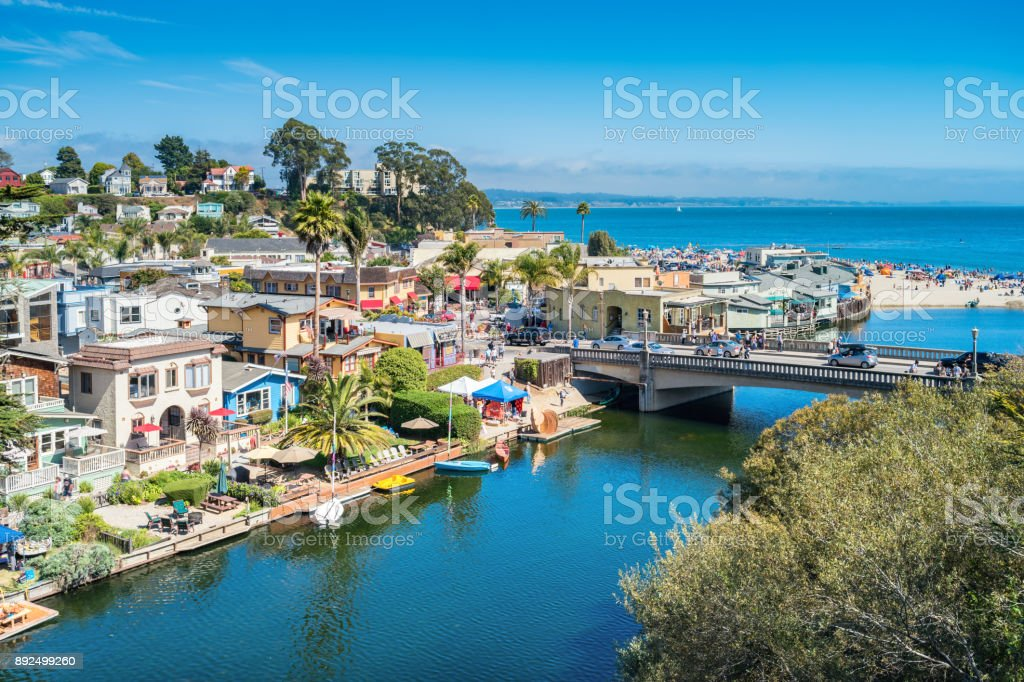 Cityscape of Capitola California USA stock photo