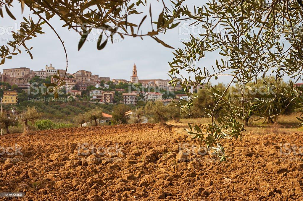 cityscape of Città Sant'Angelo in Italy, Abruzzo district stock photo