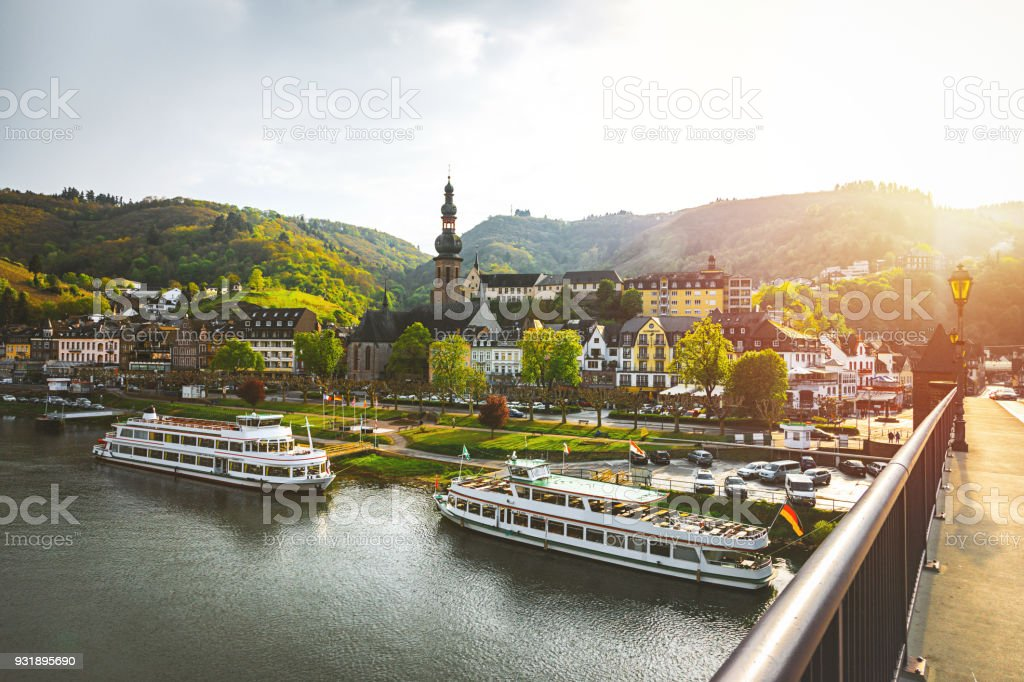 Cityscape of Cochem and the River Moselle, Germany