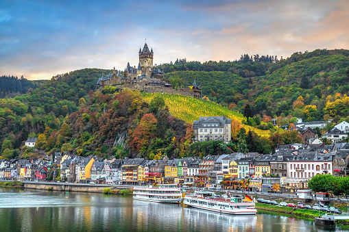 Cityscape of Cochem, Germany in Autumn