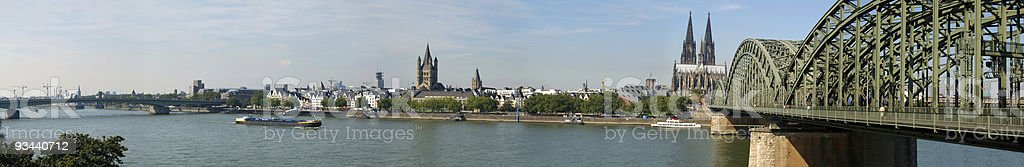 Cityscape of Cologne royalty-free stock photo