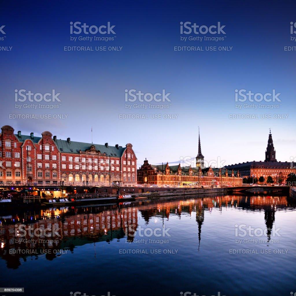 Cityscape Of Copenhagen, Denmark stock photo
