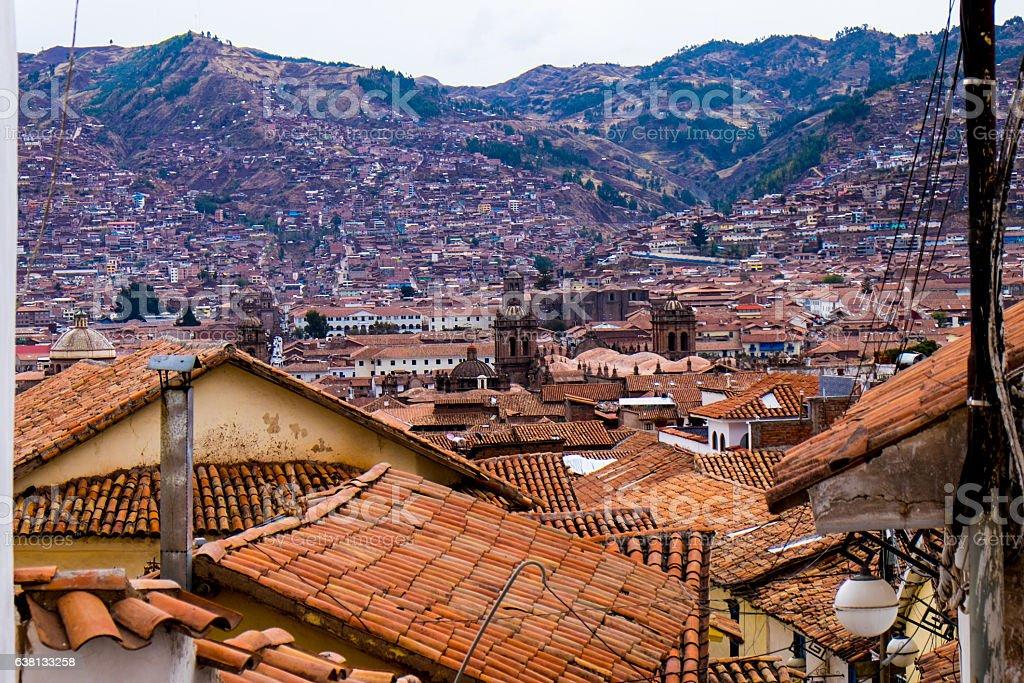 Cityscape of Cuzco, Peru stock photo