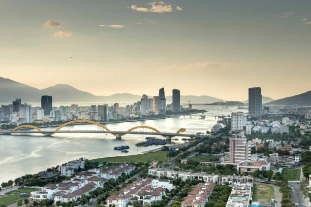 Cityscape of Da Nang, Vietnam stock photo