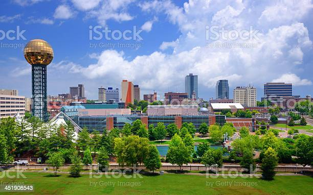 Cityscape Of Downtown Knoxville Stock Photo - Download Image Now